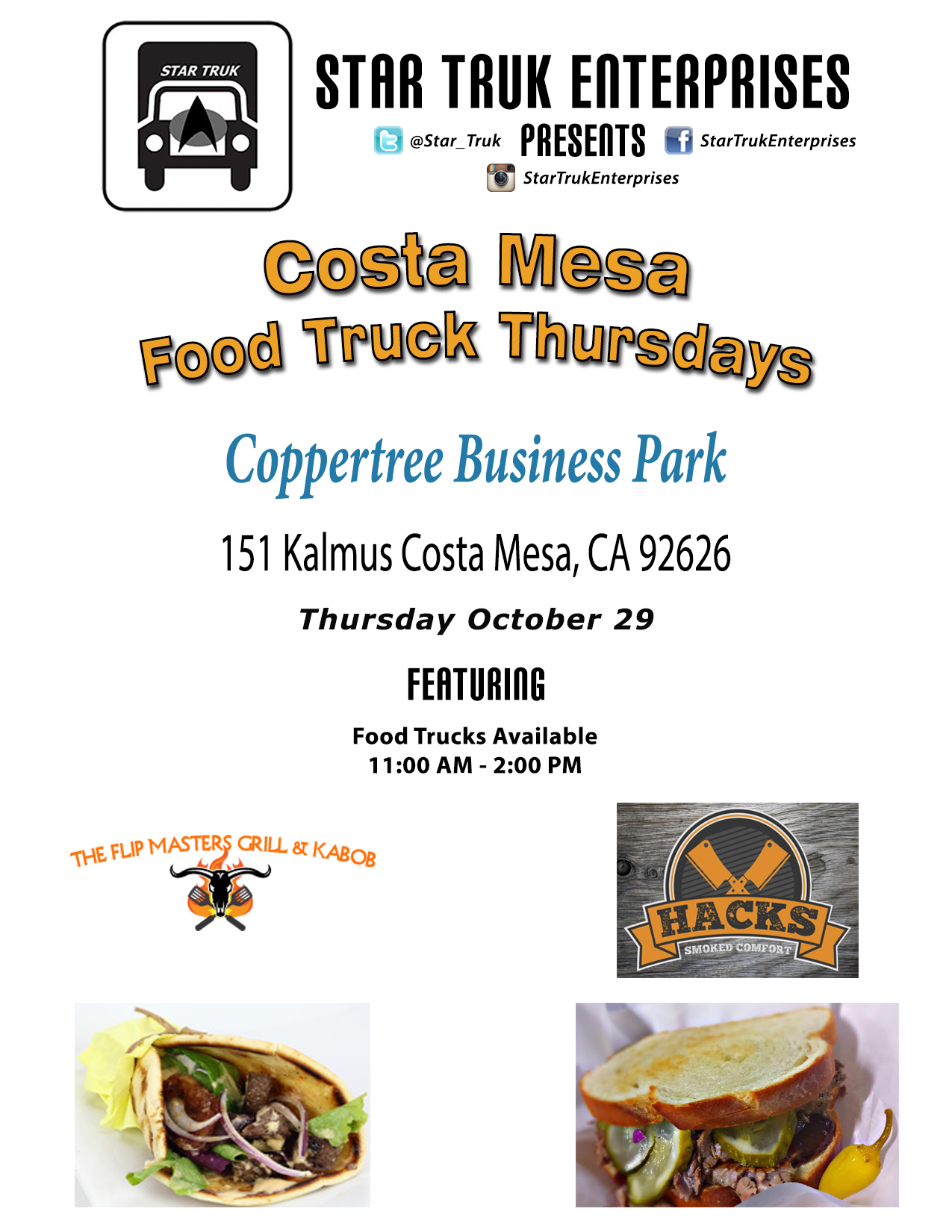 October 2015 – looking for food trucks